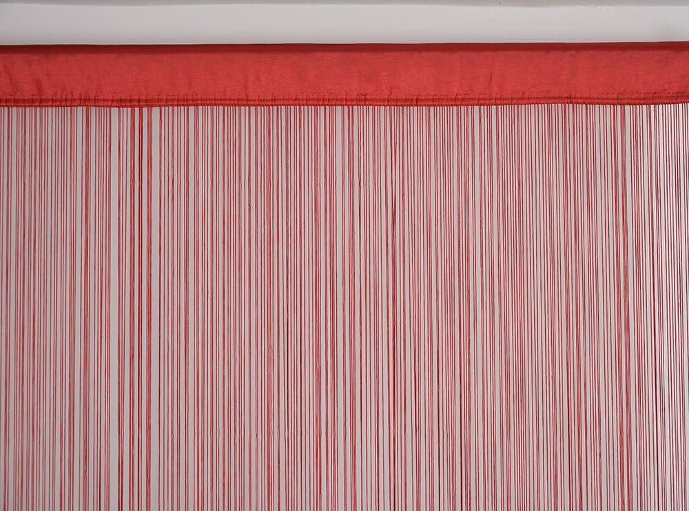 90x200cm Decorazione per la casa Red Poliestere zanzariera Porte Tenda a Fili in Pannelli per camere da Letto HSYLYM divisorio di stanze