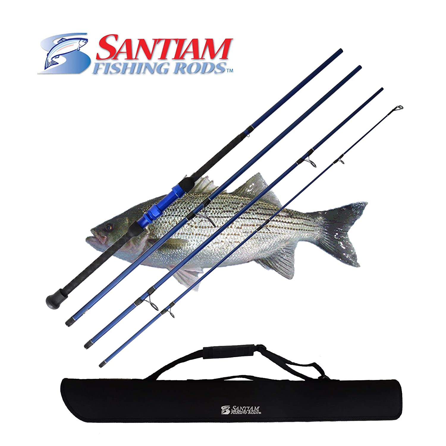 Santiam Fishing Rods Travel Rod 4 Piece 10 12-25lb Surf Rod