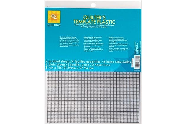 amazoncom ezquilting 882670027 quilters template plastic assortment 6 piece