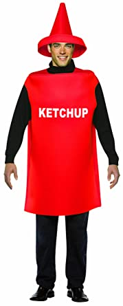 Rasta Imposta Lightweight Ketchup Costume Red One Size  sc 1 st  Amazon.com : mustard and ketchup halloween costumes  - Germanpascual.Com