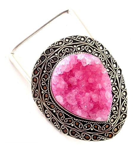 a74306ec4896 Cinturones Indios artesanales Naturales Druzy para Mujeres y Hombres de Moda  Gemstone Cinturones Unisex Accesorio de Moda  Amazon.es  Joyería