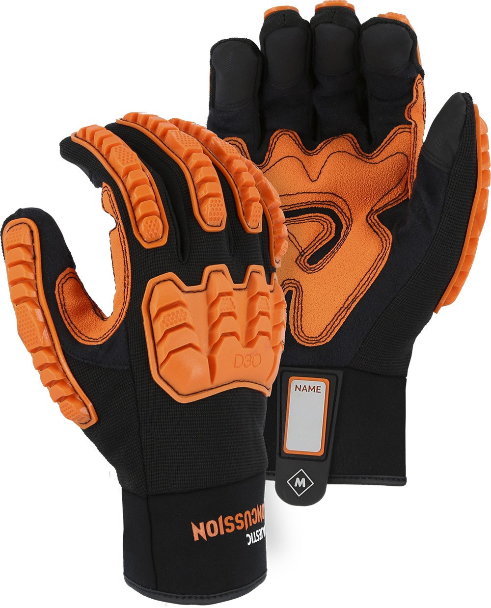 Majestic 21472BK Knucklehead Armor Skin Mechanics Glove with D3O Impact Protection & Palm Padding Size XL