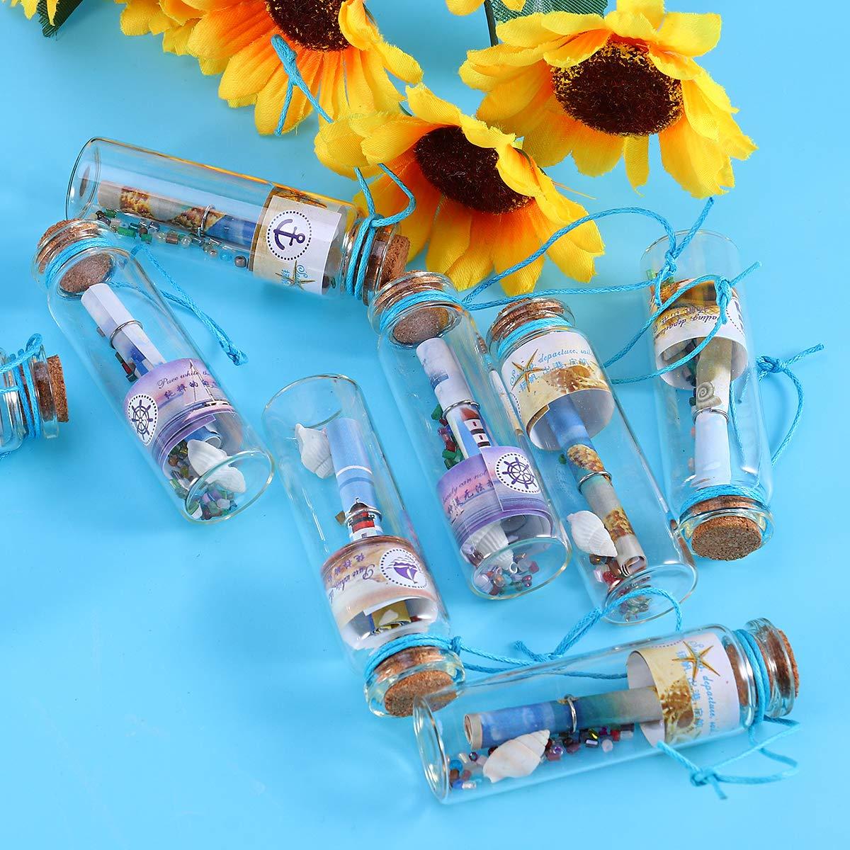 Healifty - 12 Mini Botellas de Cristal con tapón de Corcho, para ...