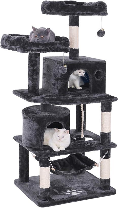 BEWISHOME MMJ01 - Árbol para Gatos, Torre de Actividades para Gatos, casa de Juegos con Postes rascadores, Perchas Hamaca: Amazon.es: Productos para mascotas