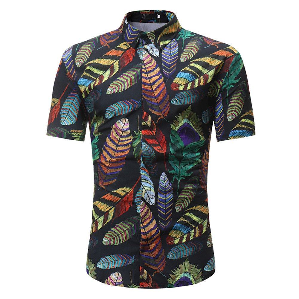 Button Down T Shirts for Men MISYYA Multicolor Floral Tuexdo Shirt Undershirt Work Tank Top Polo Shirt Gifts Mens Tops