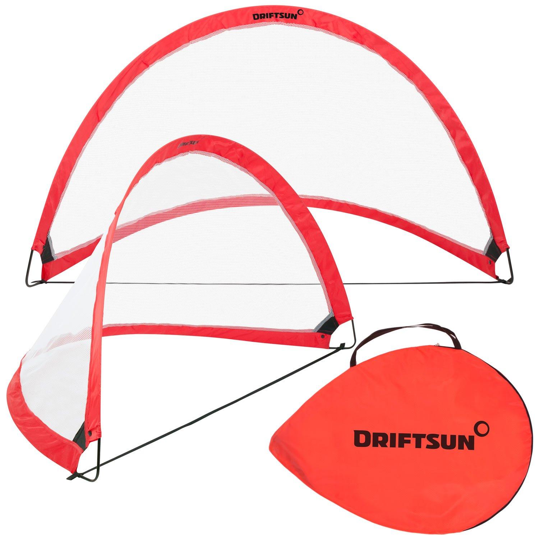 amazon com driftsun sports soccer goal set for backyard and