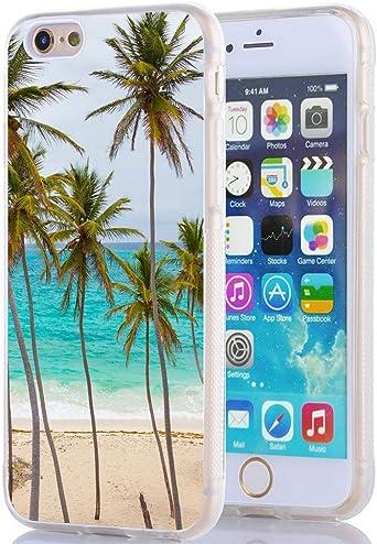 iPhone 6S Coque, Apple iPhone 6 Coque Plage palmiers: Amazon.ca ...