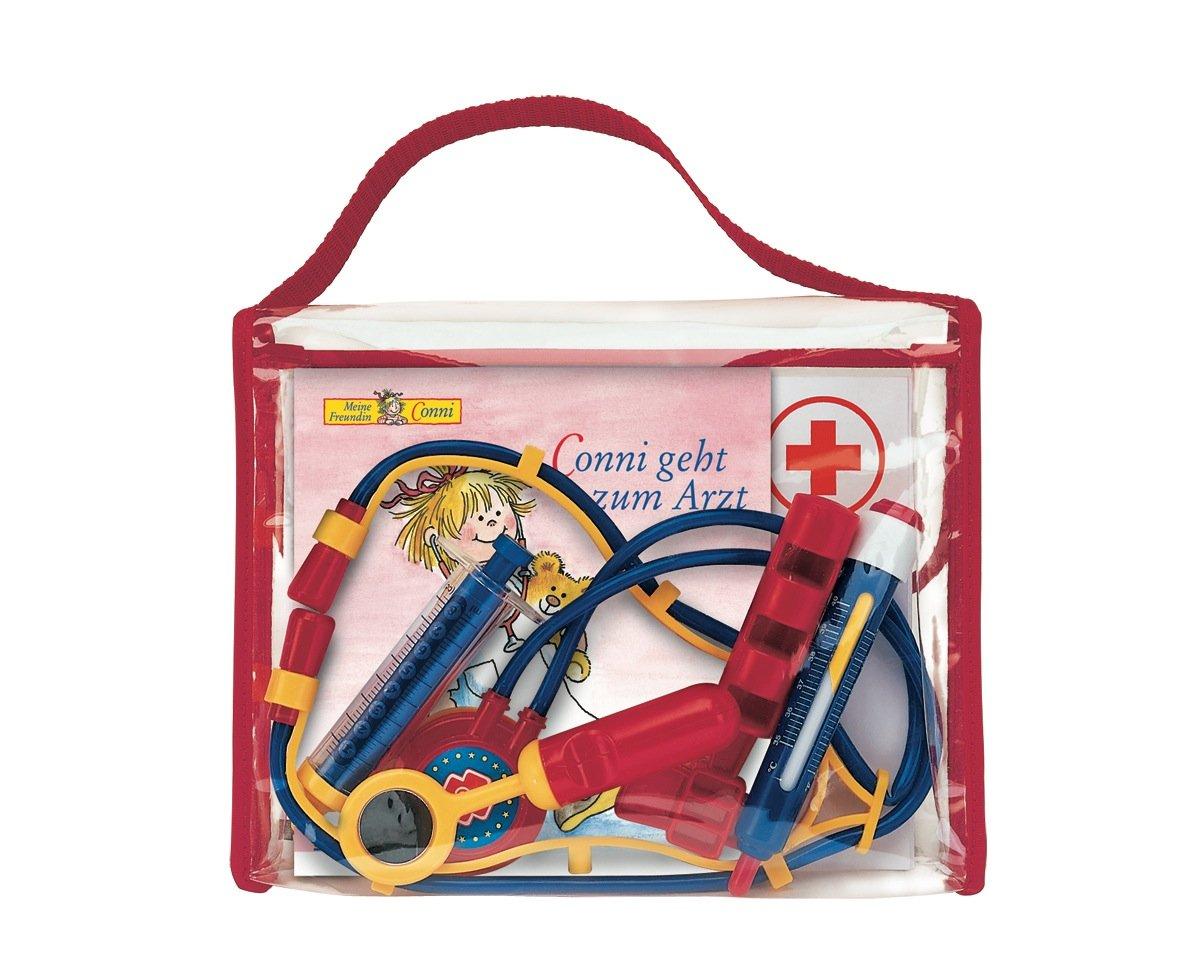 meine-conni-arzttasche-conni-bilderbuch-conni-geht-zum-arzt-in-lustiger-tasche-mit-rezeptblock-ausmalbogen-spiegel-fieberthermometer-spritze-reflexhmmerchen-und-stethoskop
