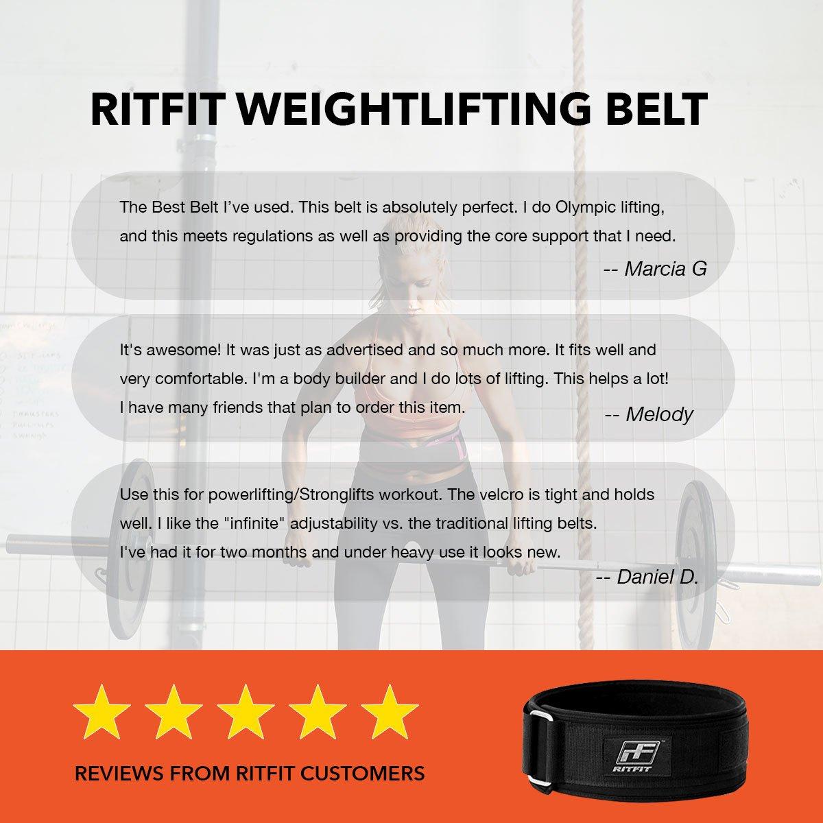 10,2cm colore nero cintura salda e comoda per supporto lombare posteriore,ca Ritfit