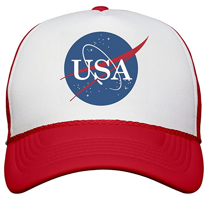 Amazon.com  Customized Girl USA NASA Logo  Snapback Trucker Hat ... 404ffbafc24