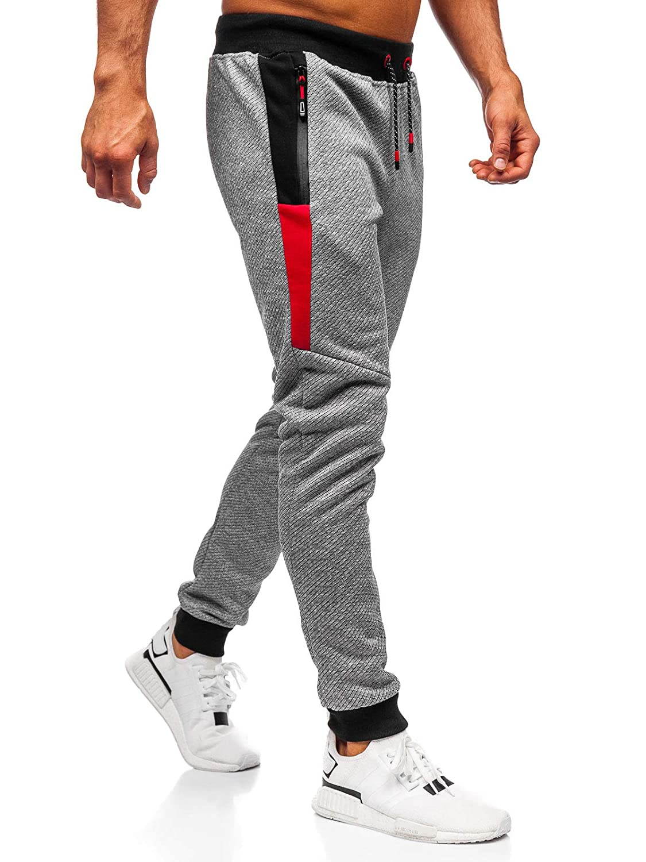 BOLF Hombre Pantalones Jogger Deportivo Entrenamiento Fitness Motivo Mix 6F6