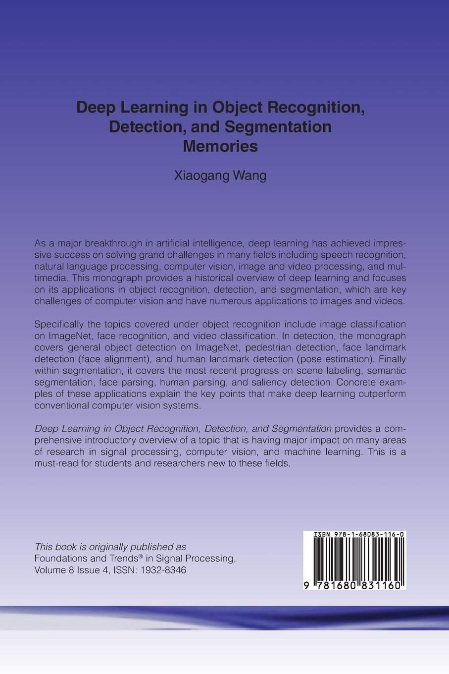 Buy Deep Learning in Object Recognition, Detection, and