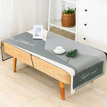Bassetissu Cotonpetite Basseen Fraicheuradaptée Le Nappe Pour Rectangulaire Modernetaille80190cmPar Table Minimaliste Salon De 3l1JcKFT