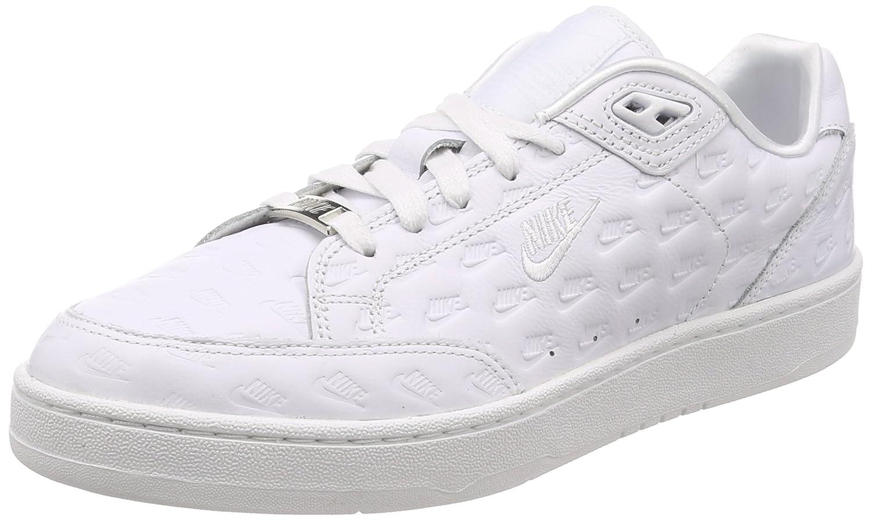 Nike , Herren Turnschuhe Weiß Weiß Matte Silber