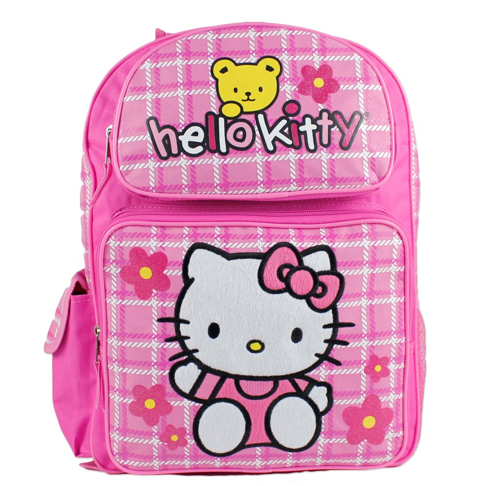 Backpack - Hello Kitty - Teddy Bear (Large School Bag) New Book Girls 81601-2 B006QKH1VY