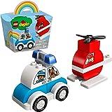 10957 LEGO® DUPLO® O Meu Primeiro Helicóptero dos Bombeiros e Carro da Polícia; Brinquedo de Construção (14 peças)