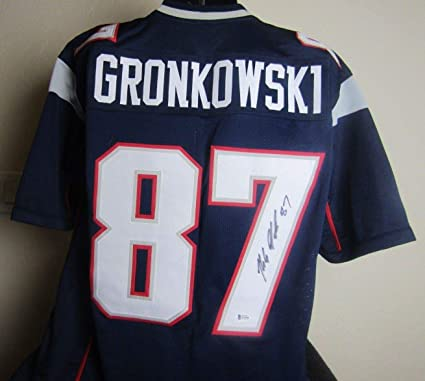 aec1ef60f Image Unavailable. Image not available for. Color  ROB GRONKOWSKI  AUTOGRAPHED SIGNED PATRIOTS JERSEY BECKETT COA