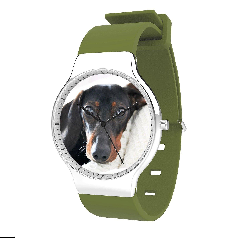 FELOOWSE Dog Lover Watch Men'S Quartz Watches, Minimalist Slim Japanese Quartz Youth Silicone Watches, Fashion PracticalWaterproof Boys Watch Customized Watches
