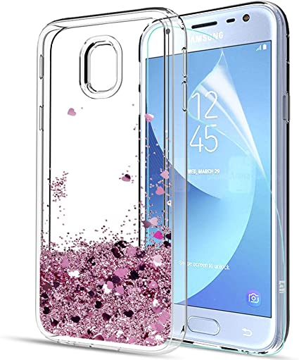 LeYi Compatible with Funda Samsung Galaxy J3 2017 con HD ...
