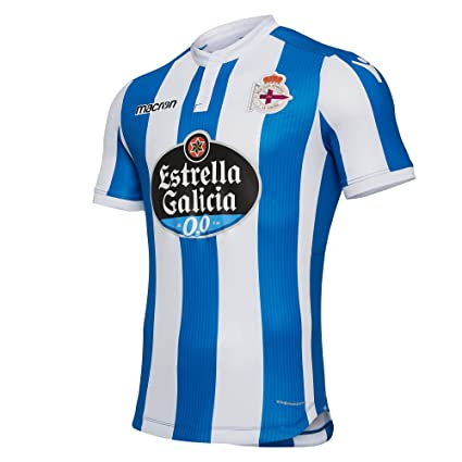 1f5f0f9ef24 Image Unavailable. Image not available for. Color  Macron Deportivo La  Coruna Home Shirt 2018 19 (Adults)-Small