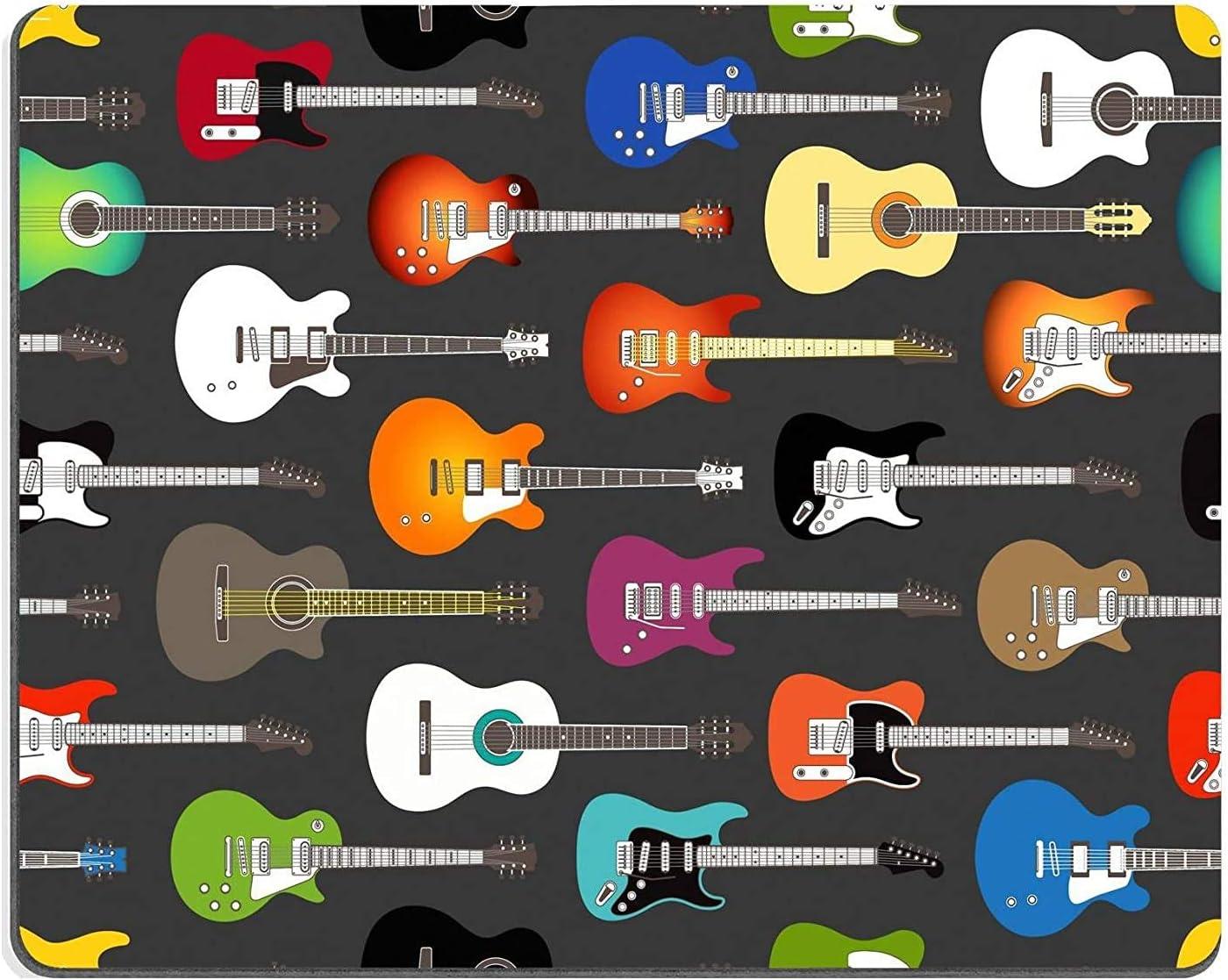 Not Applicable Alfombrilla de ratón Alfombrilla de Goma Natural Fondo Transparente de Color Guitarras acústicas y eléctricas