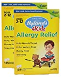 Hyland's Allergy Relief 4 Kids Quick Dissolve Tabs, 125 Count (Pack of 2)