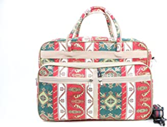 Handmade Woven Tapestry Travel Bag in Green 0de79a9131cf1