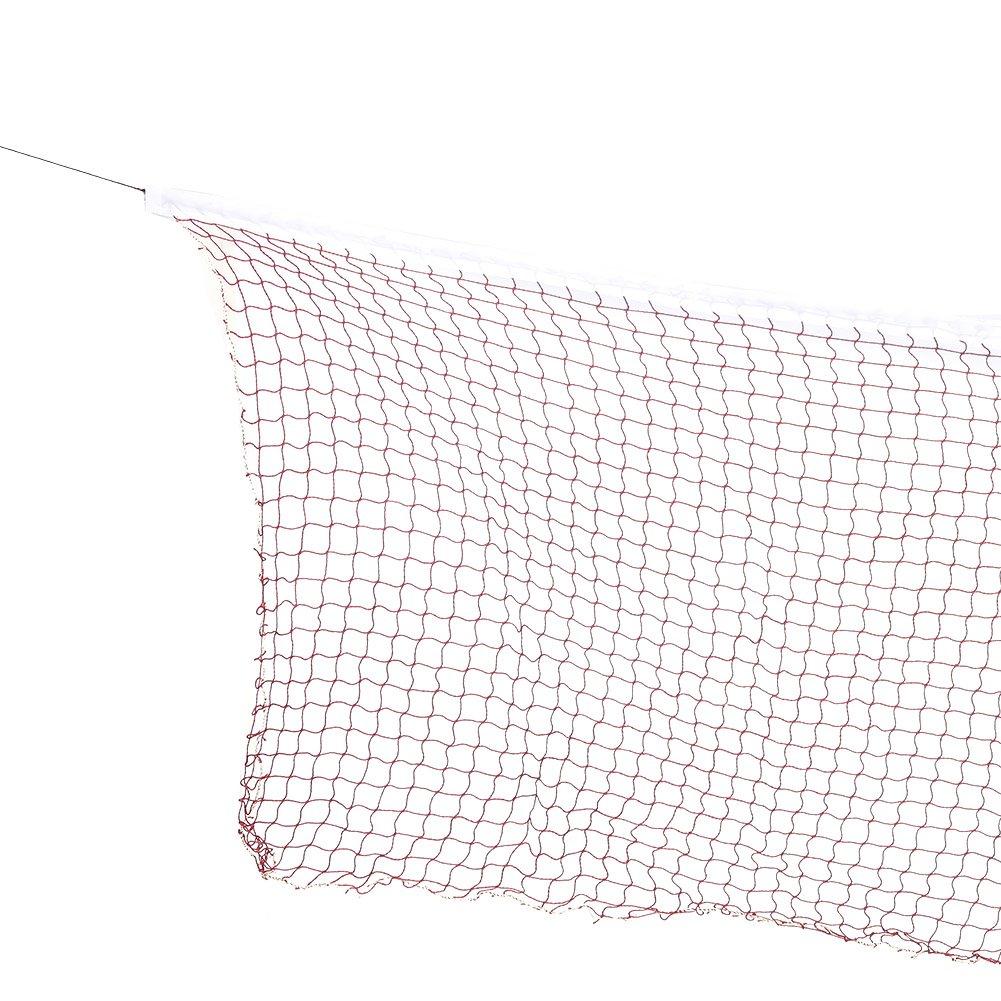 Dilwe 2 colores de red de b/ádminton ajustable plegable entrenamiento Badminton red de regulaci/ón para deportes al aire libre Rojo