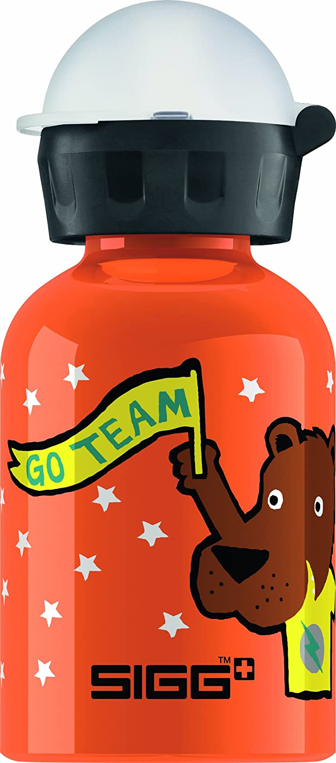 Sigg Kinder Trinkflasche Go Team Bear Elephant, Orange, 0.3 l