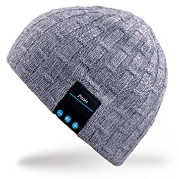 99c322e254c Rotibox Washable Bluetooth Beanie Warm Soft Winter Knitted Trendy Short  Skully Hat Cap with Wireless Headphone