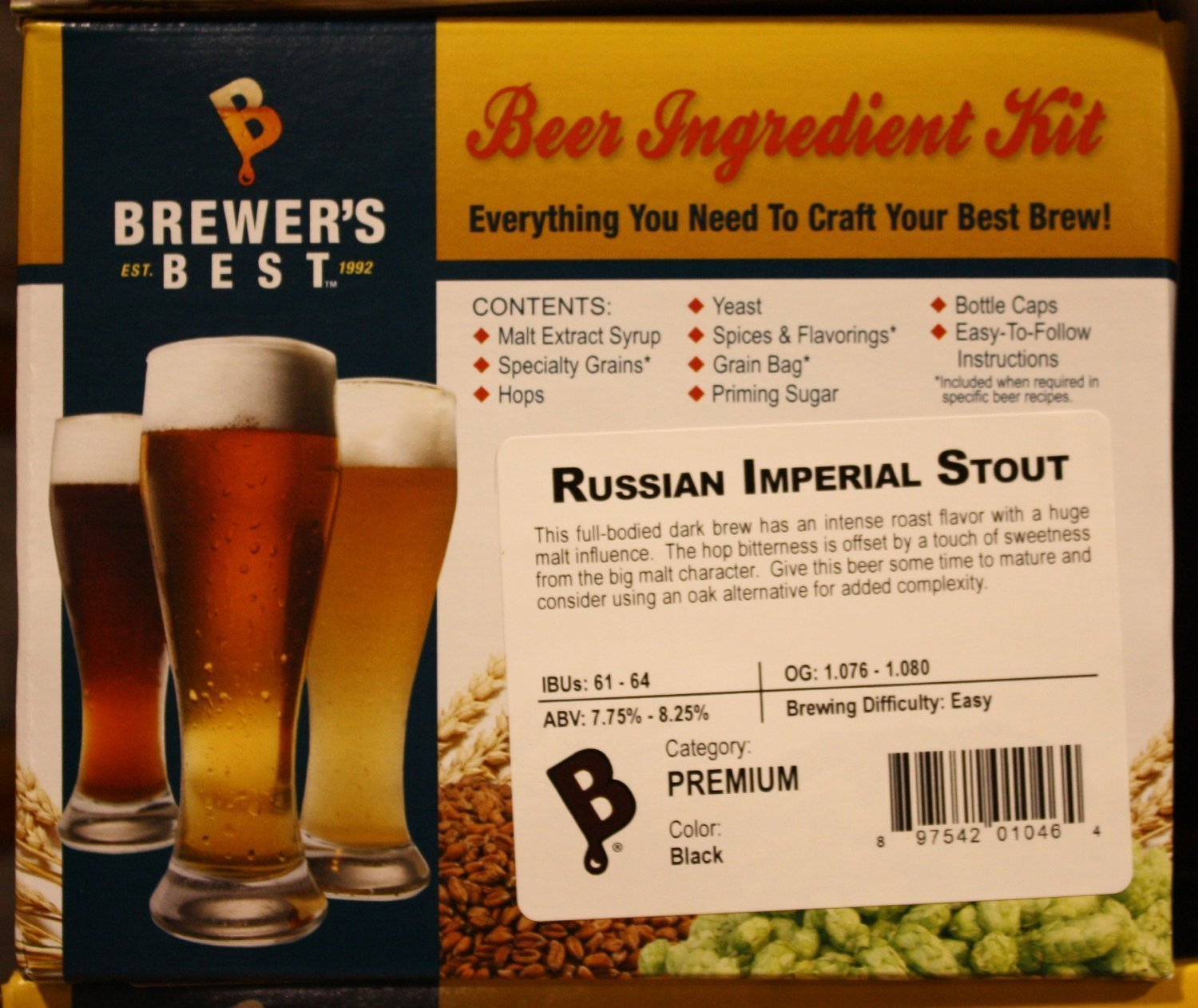 Brewer's Best Russian Imperial Stout Homebrew Beer Ingredient Kit Home Brew Ohio BIK-1046