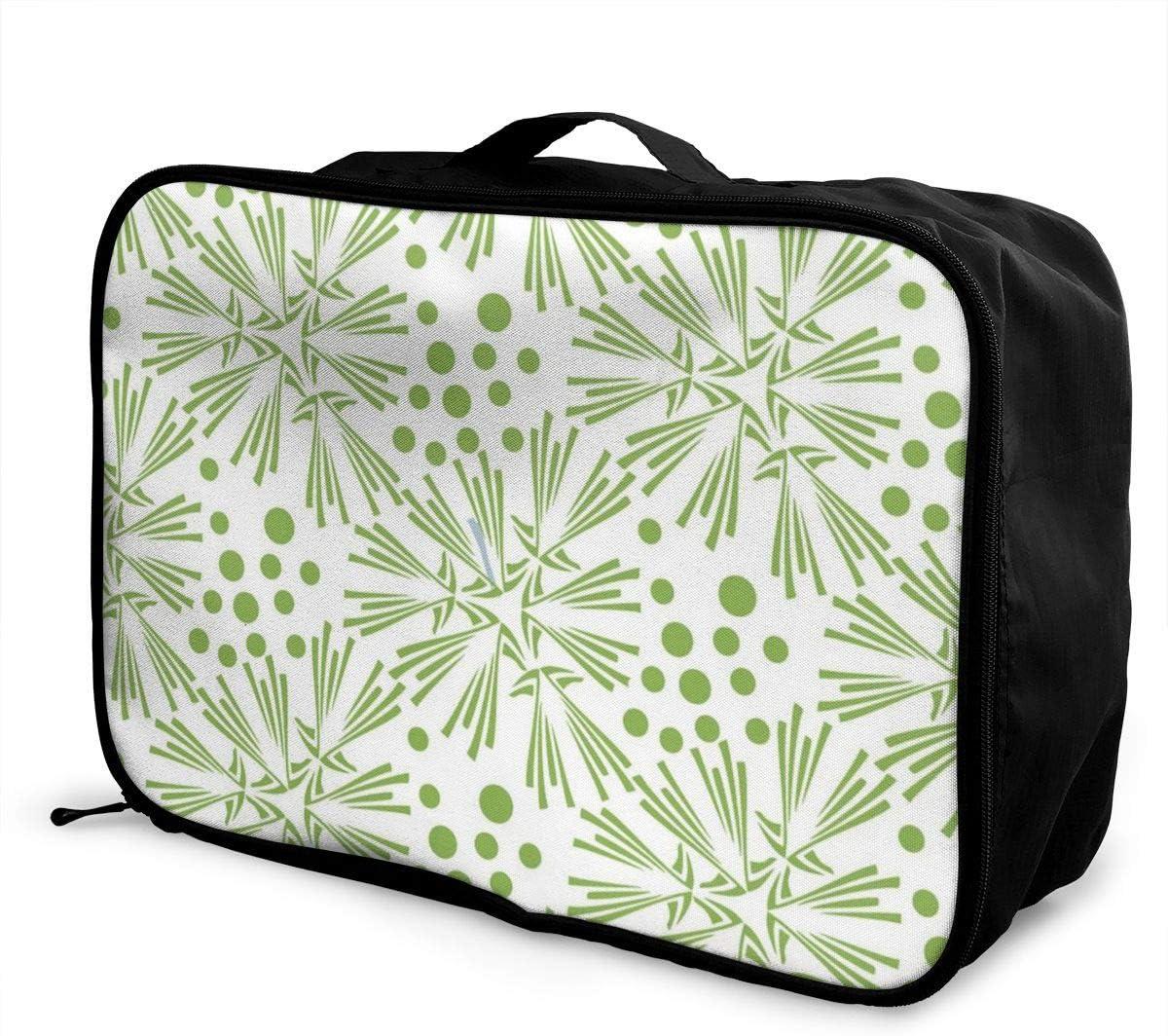Yunshm Greenery Dandelion Seamless Pattern Wallpaper Vector Image Customized Trolley Handbag Waterproof Unisex Large Capacity For Business Travel Storage