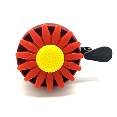 JD's Red Flower Design Bi-Cycle One Flip Cling Bell (Click on JD India Gems and Rings to Visit and Buy All Our Products)