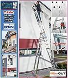 Krause Tribilo 3x10 Sprossen Vielzweck- Mehrzweckleiter mit Treppenfunktion