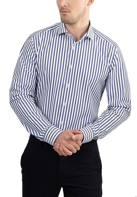 Hombre Cuero Auténtico Zapato Elegante Oficina Ante Auténtico De Vestir Casual Zapatos fiesta - Azul Marino