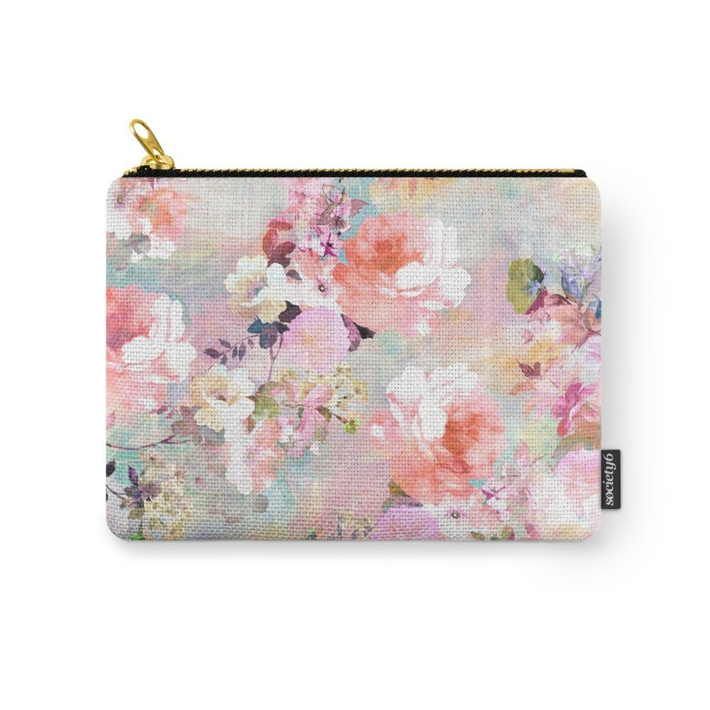 Society6 Love Of A Flower Carry-All Pouch Small (6'' x 5'')