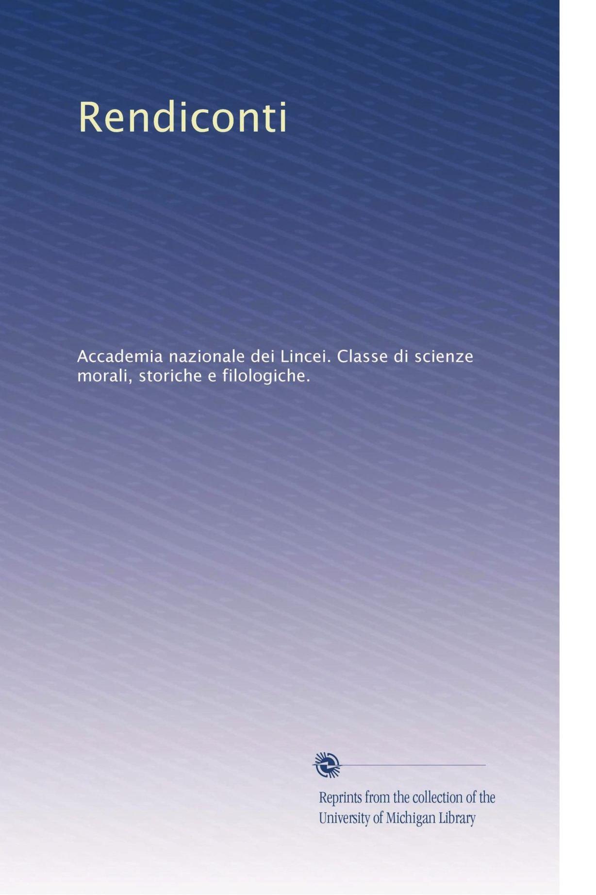 Rendiconti (Italian Edition) ebook