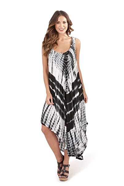 91680e43556 Pistachio Womens Tie Dye Pattern Maxi Dresses - Black - Small ...