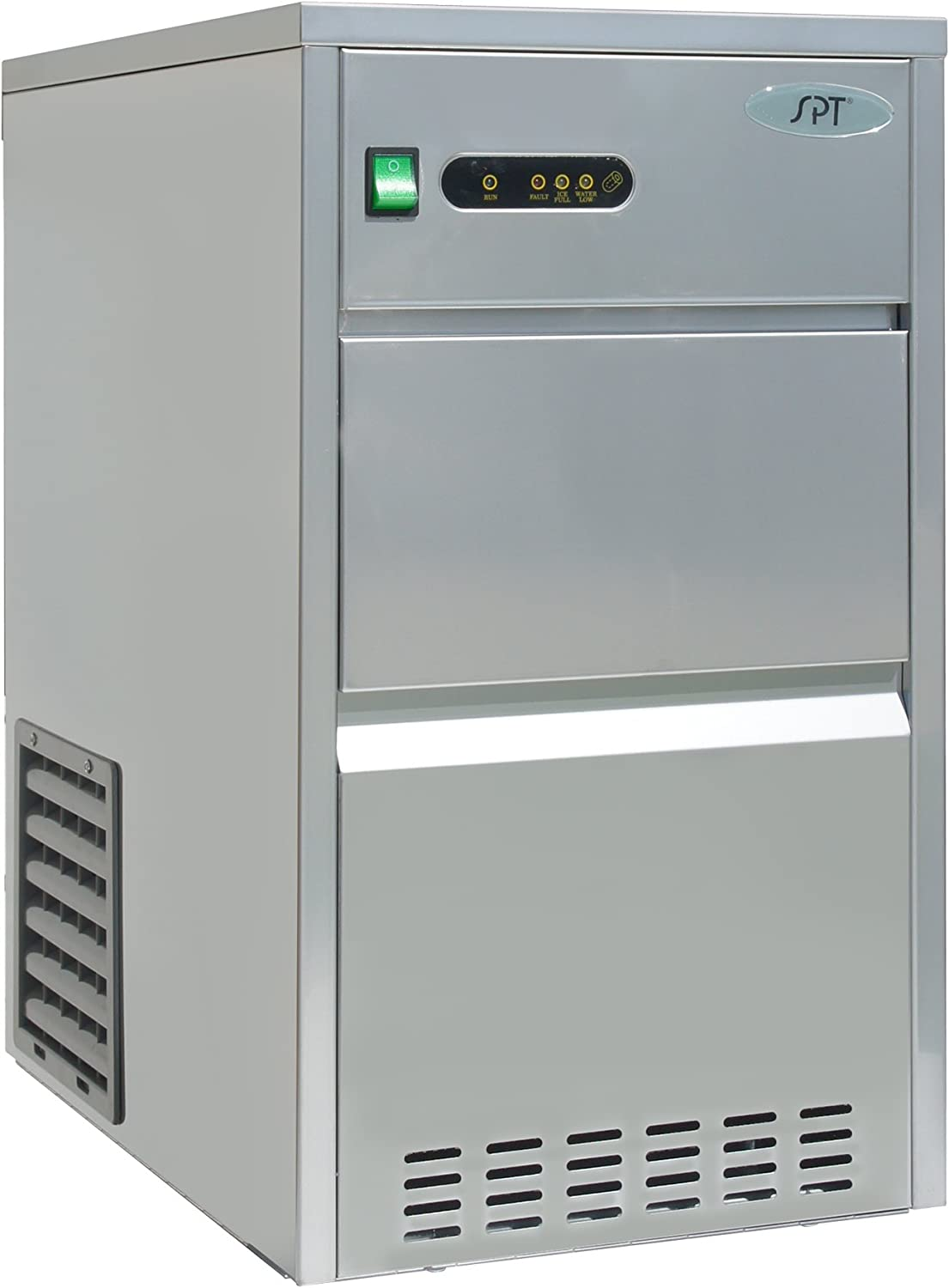 SPT IM-441C 44 lbs Automatic Stainless Steel Ice Maker, Silver