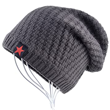 e1fea452ce8c8 Gome-z The New bonnet Red Star hat men s winter beanie man skullies Knitted  wool