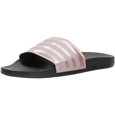 adidas Women's Adilette Comfort Slide Sandal, Vapour Grey Metallic/Vapour Grey Metallic/Black, 11 M US