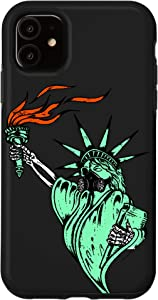 iPhone 11 Face Gas Mask Statue Of Liberty Freedom Political Humor Case
