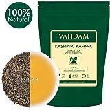 VAHDAM, Kashmiri Kahwa Tea Loose Leaf (50 Cups) | 100% NATURAL SPICES | Masala Chai Tea | Green Tea, Cinnamon, Cardamom, Almond, Saffron | Spiced Chai Tea Loose Leaf | Brew Hot or Iced Tea | 100g