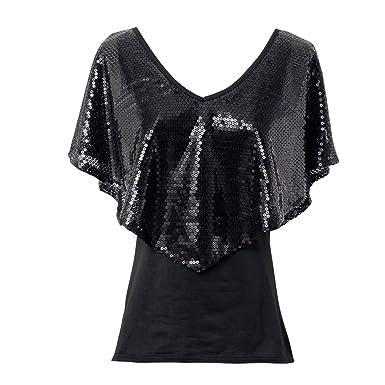 22babae26b0 CHARMGIRL Women Sequin T-Shirts