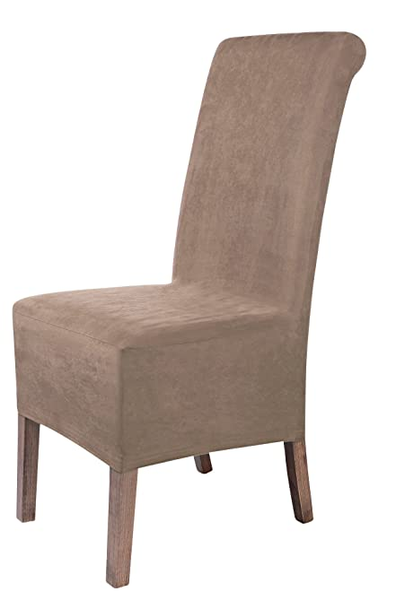 SCHEFFLER HOME Leon Suede Chair Covers For Dining Room 2 Pcs