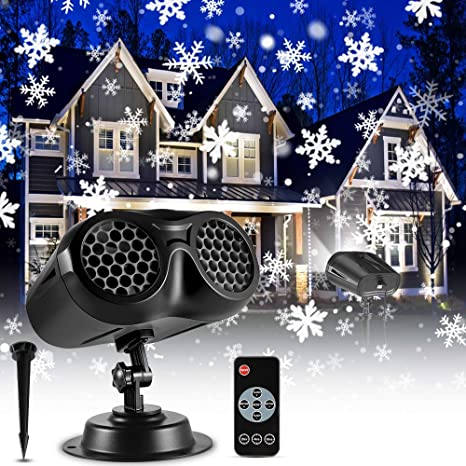 Details about  /Christmas LED Rotating Snowflake Laser Light Projector Lamp Party Decor-Home US