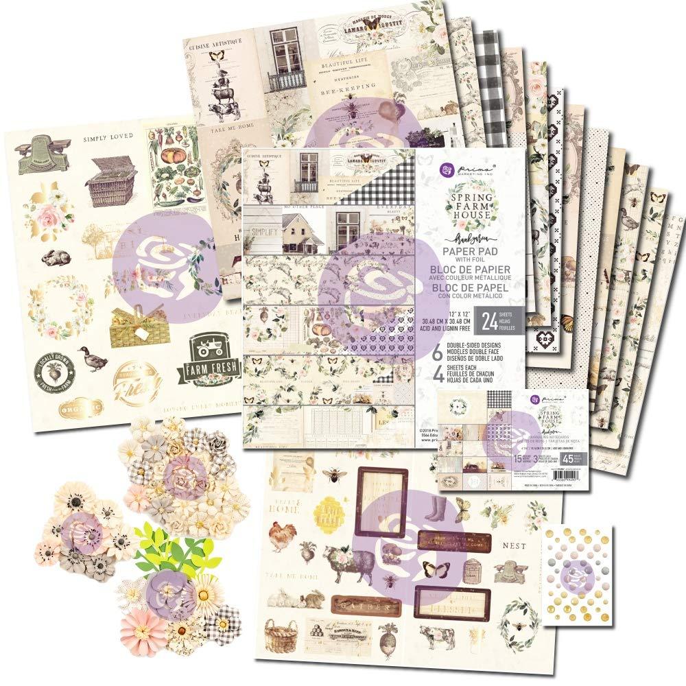 FotoBella Prima Marketing Spring Farmhouse 12x12 Essentials Bundle