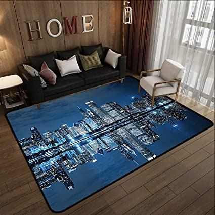Amazon Com Kitchen Rugs Non Skid Americana Cityscape Decor