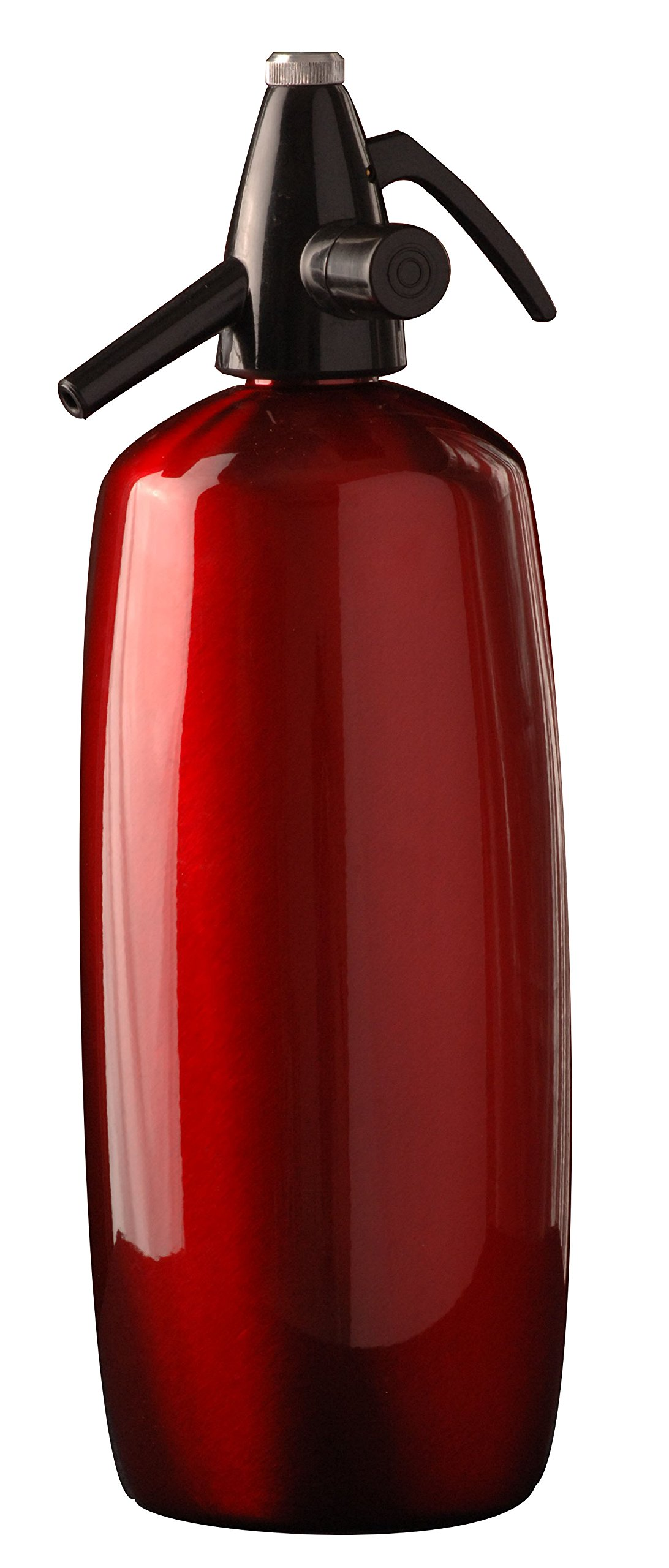Liss 2-qt. Liss Professional Stainless Steel Soda Siphon, Red.