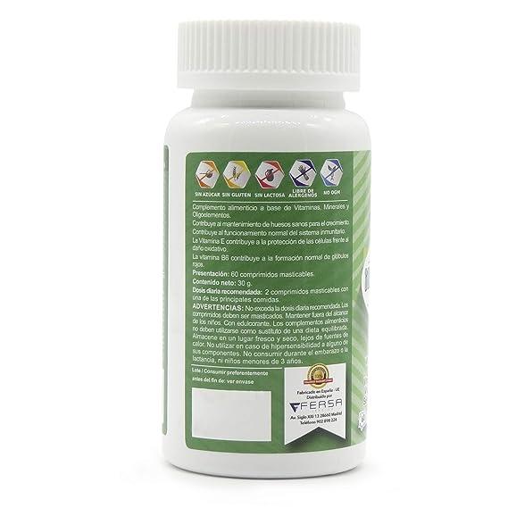 ... y refuerza su sistema inmunológico - Proteja a su hijo de gripes e infecciones - 60 masticables sabor cereza.: Amazon.es: Salud y cuidado personal